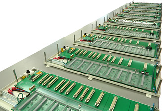 Picture of the HDIO PCB Production. Click to view larger image.