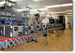 Manufacturing of first batch of 12 commerical dehumidifier units.  Click to view larger image.